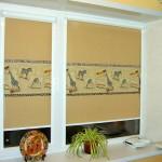 Идея дизайна штор для кухни 125