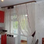 Дизайн штор для кухни 99