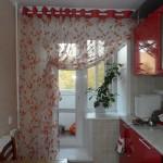 Дизайн штор для кухни 100