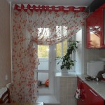 Идея дизайна штор для кухни 127