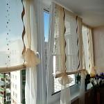 Дизайн штор для кухни с балконом 8
