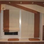 Идея дизайна штор для кухни 132