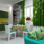 Идея дизайна штор для кухни 133
