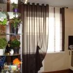 Дизайн штор для кухни с балконом 12