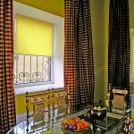Варианты дизайна штор для кухни 7