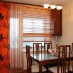 Идея дизайна штор для кухни 141