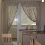 Идея дизайна штор для кухни 142