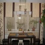 Идея дизайна штор для кухни 145