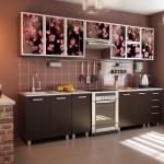 Дизайн кухни в кофейных тонах