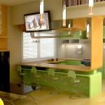 Идея зеленой кухни