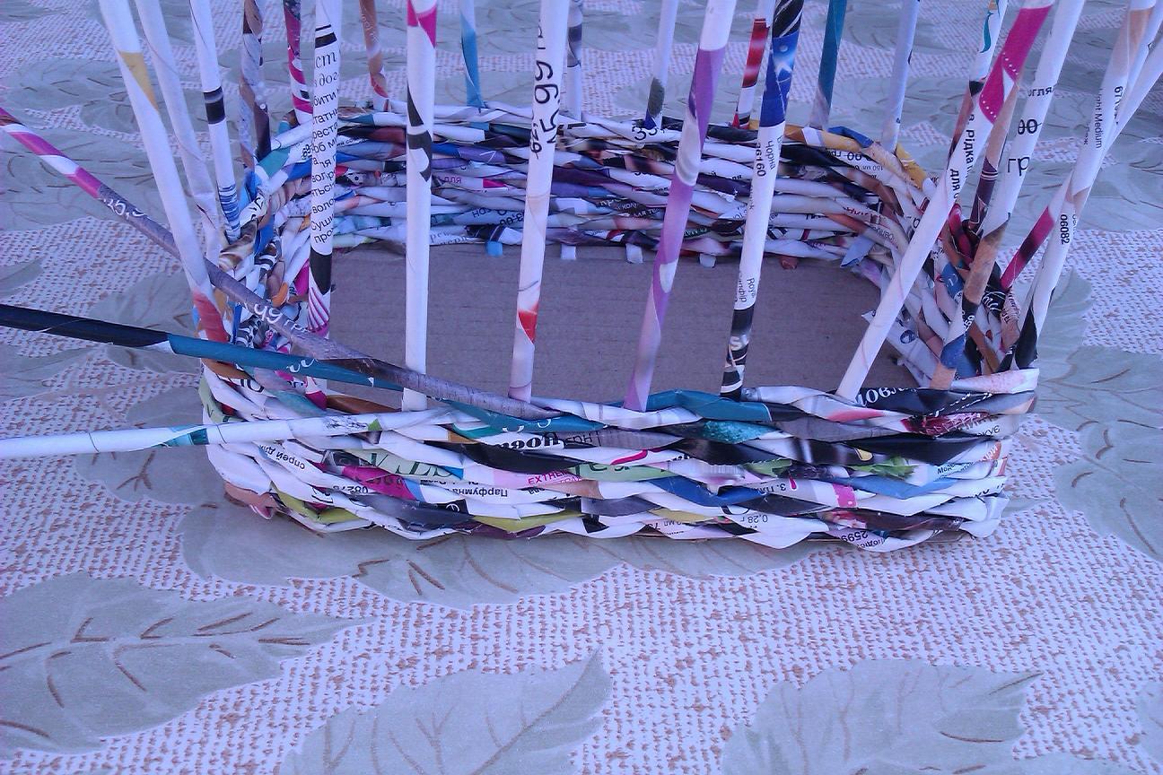 Плетение из открыток видео