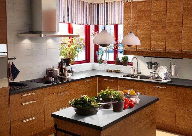 Дизайн кухни 2017 в коричневых тонах