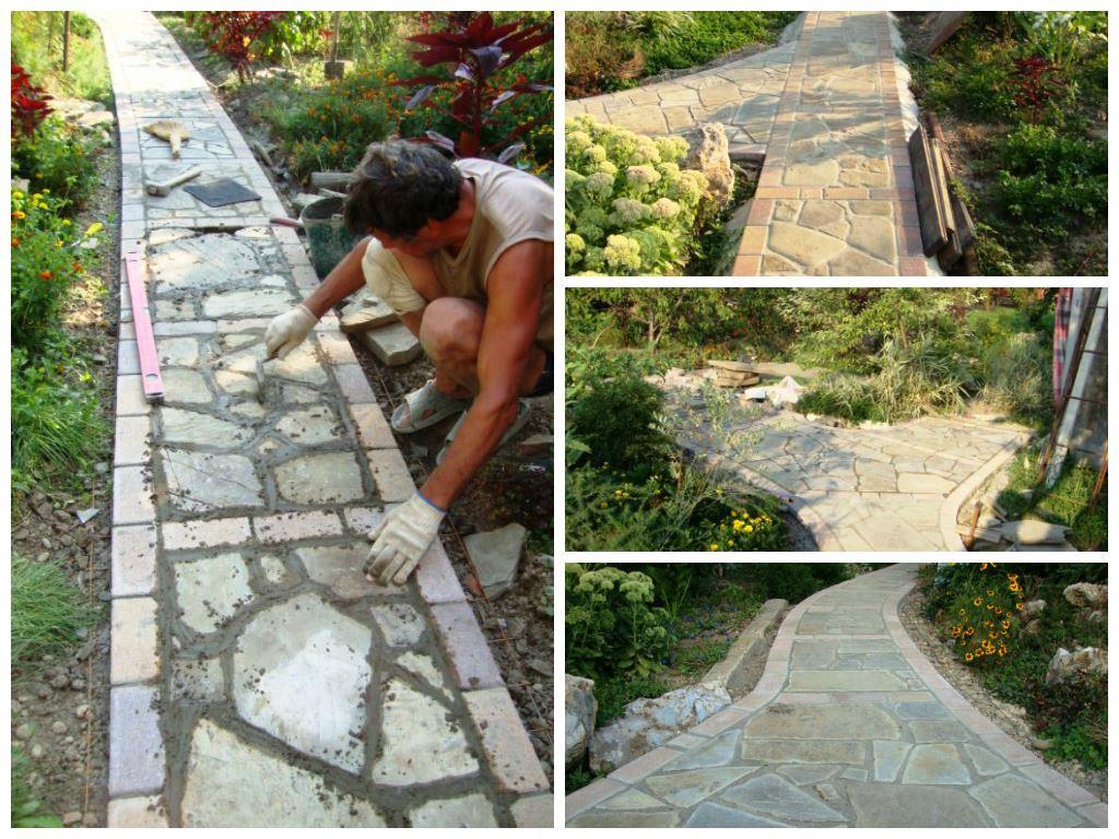 Как укладывают садовые дорожки