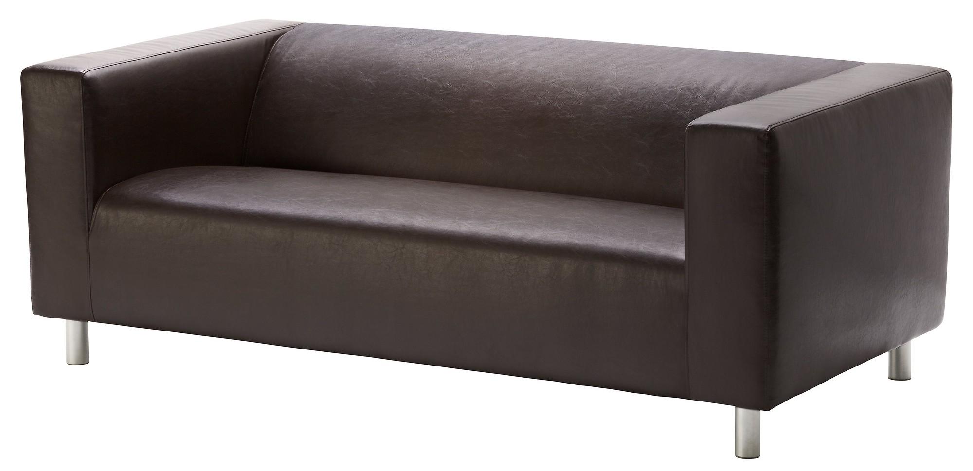 Кожаный диван Икеа Клиппан