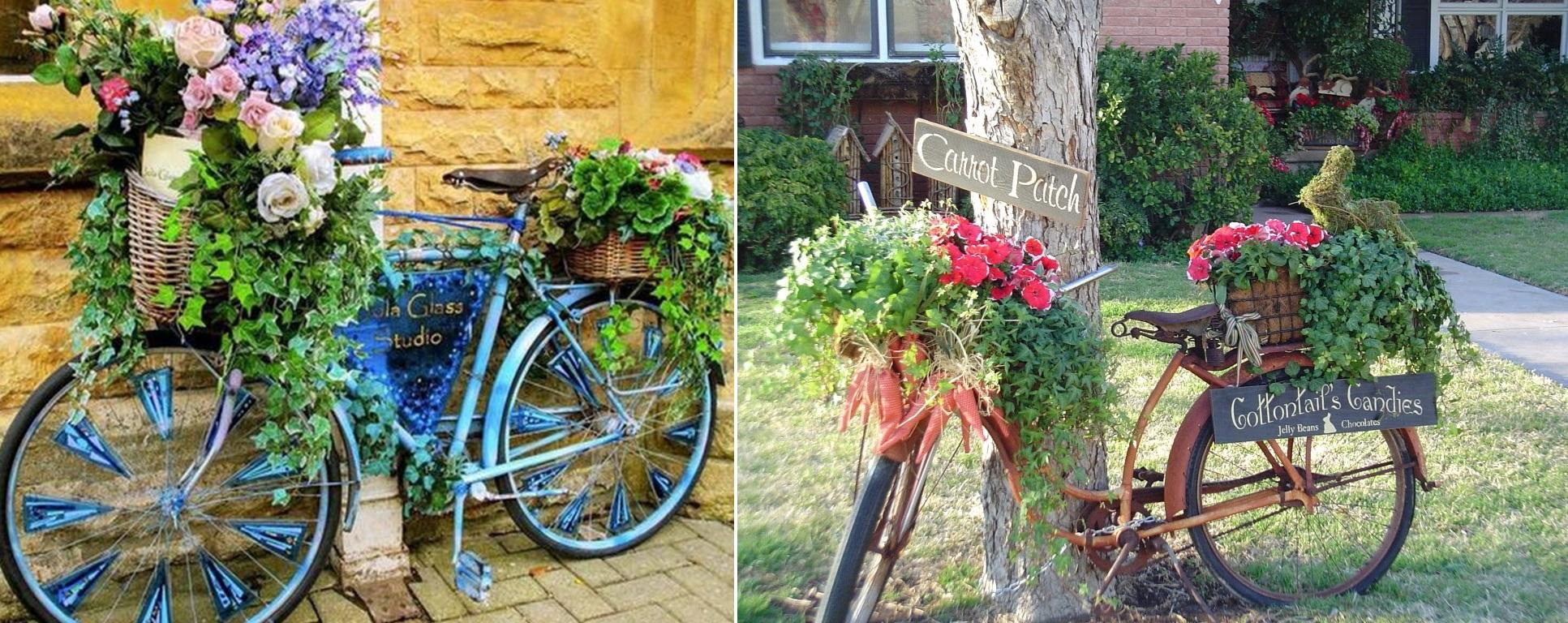 велосипед для создания цветника