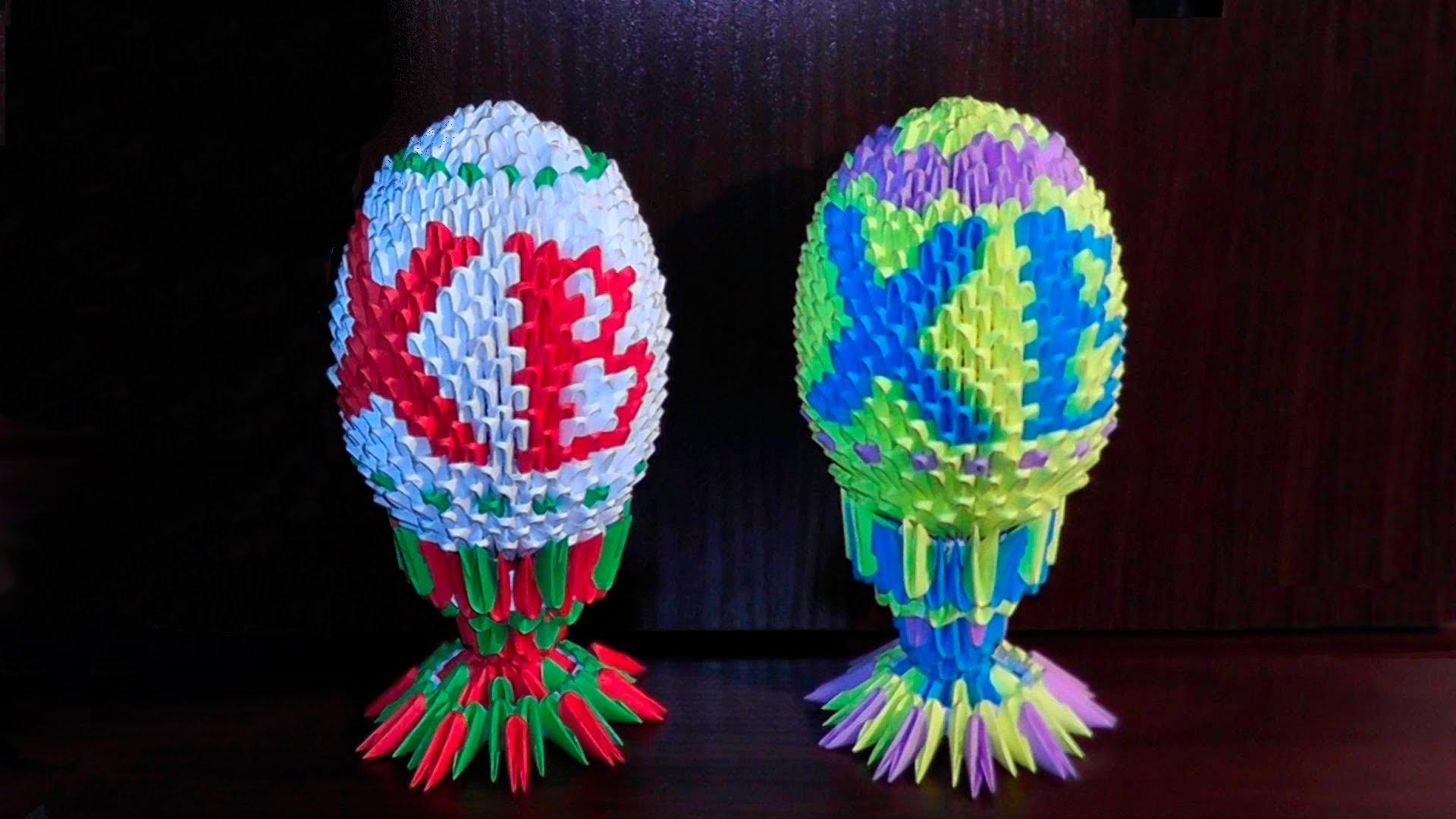 Как делать оригами в форме яйца на Пасху 3