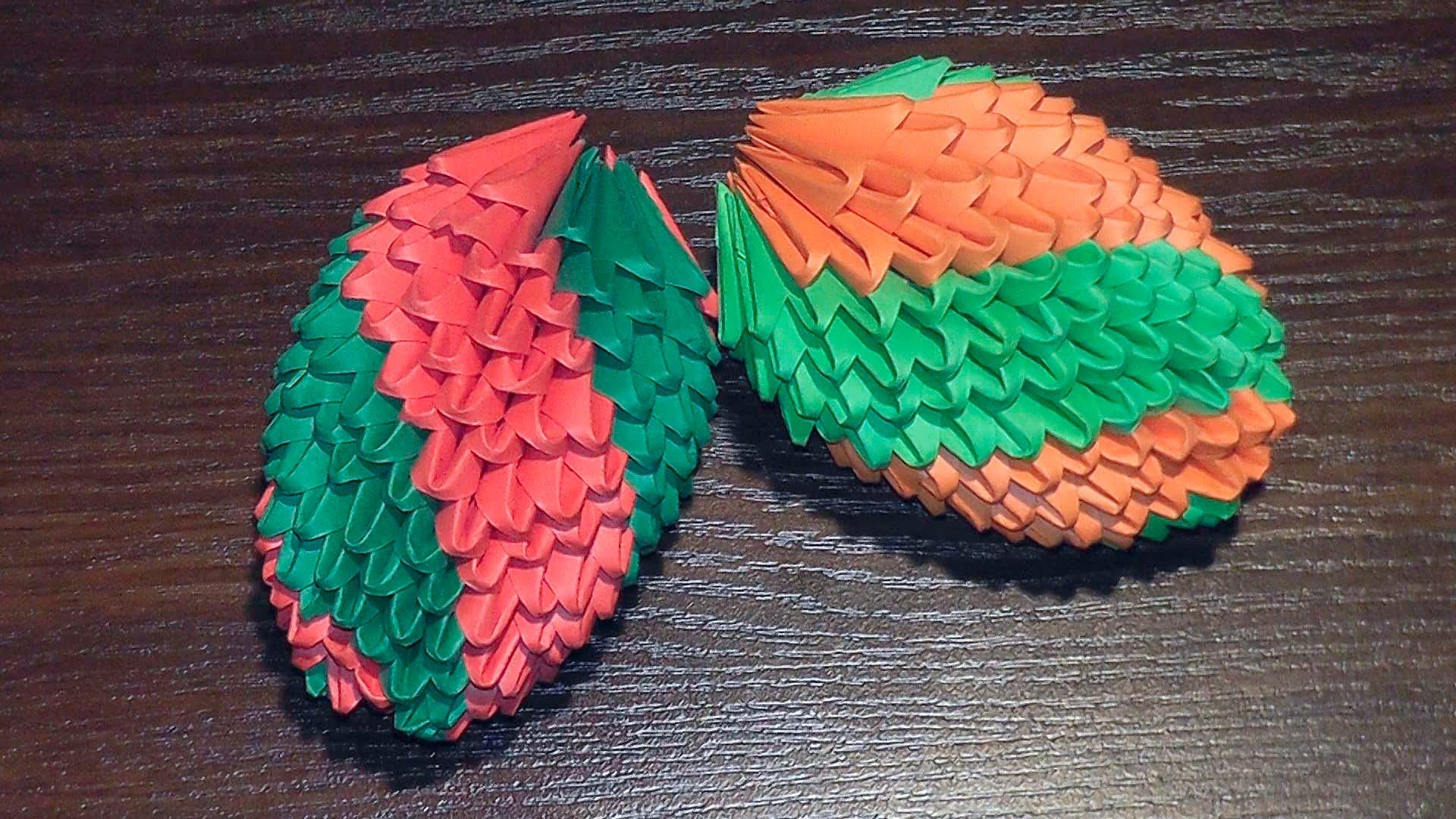 Как делать оригами в форме яйца на Пасху 4