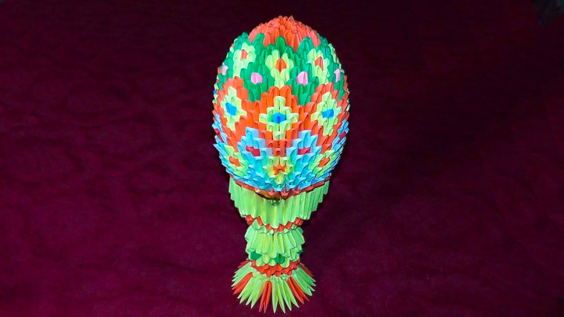 Как делать оригами в форме яйца на Пасху 5