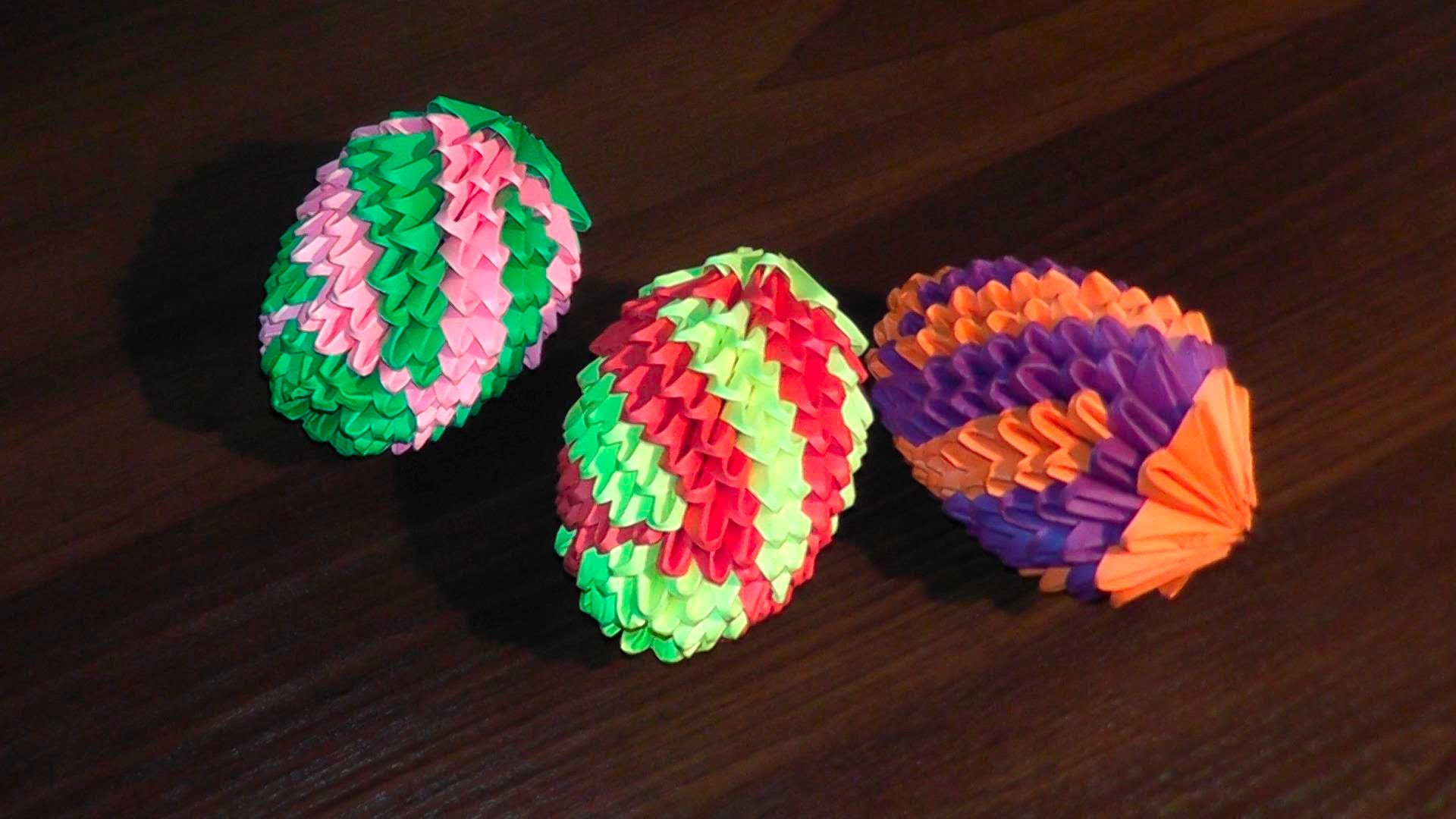 Как делать оригами в форме яйца на Пасху