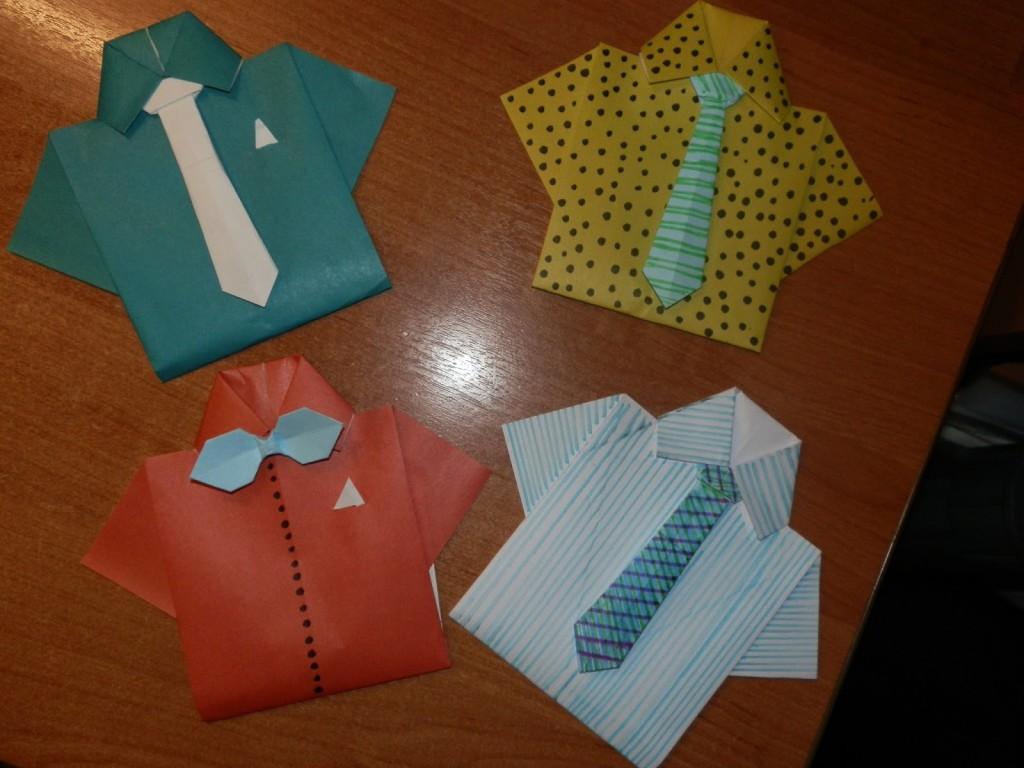 этот мастер класс открытка рубашка с галстуком из бумаги альбомы потихоньку редеют