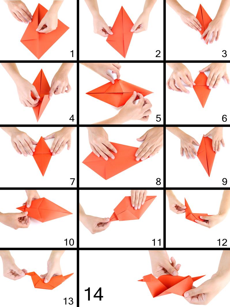Оригами схемы дракон