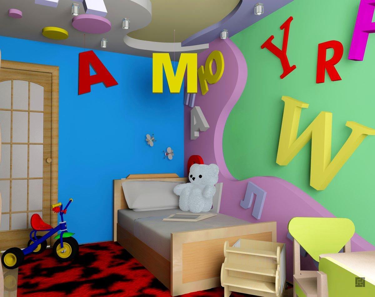 Буквы, слова или цитаты на стенах