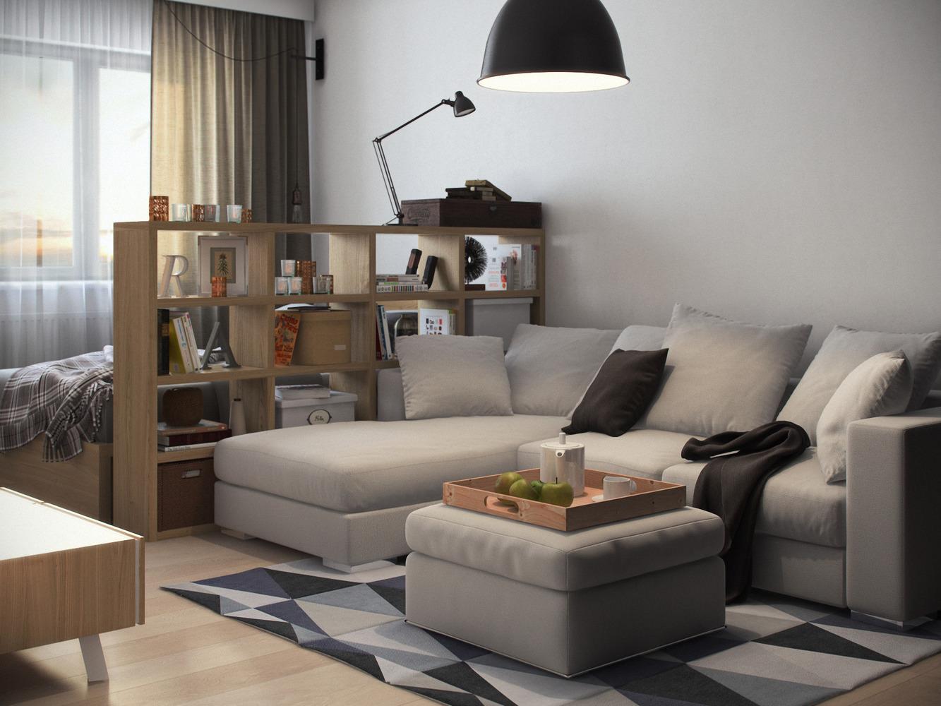 Однокомнатной квартиры дизайн 20