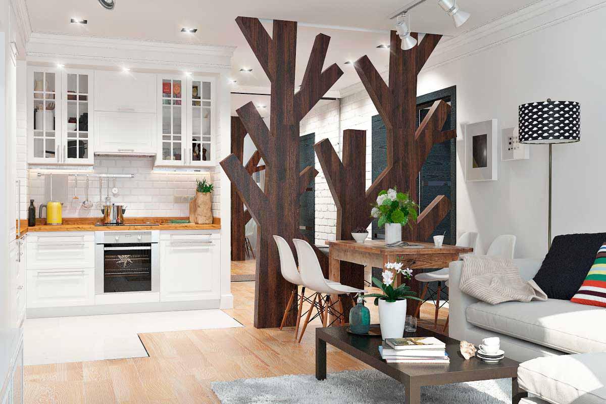 Однокомнатной квартиры дизайн 26