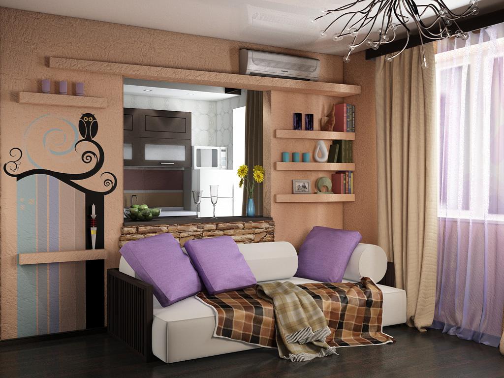Однокомнатной квартиры дизайн 30