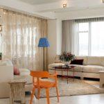 Дизайн проект гостиной, объединенной с кухней