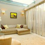 Дизайн светлой просторной гостиной