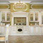 Интерьер кухни в классическом стиле 3