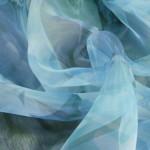 Органза бледно-синего цвета