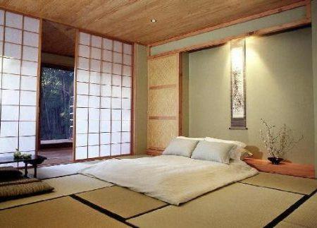 спальня на полу
