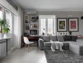 Дизайн комнаты в спокойных серых тонах