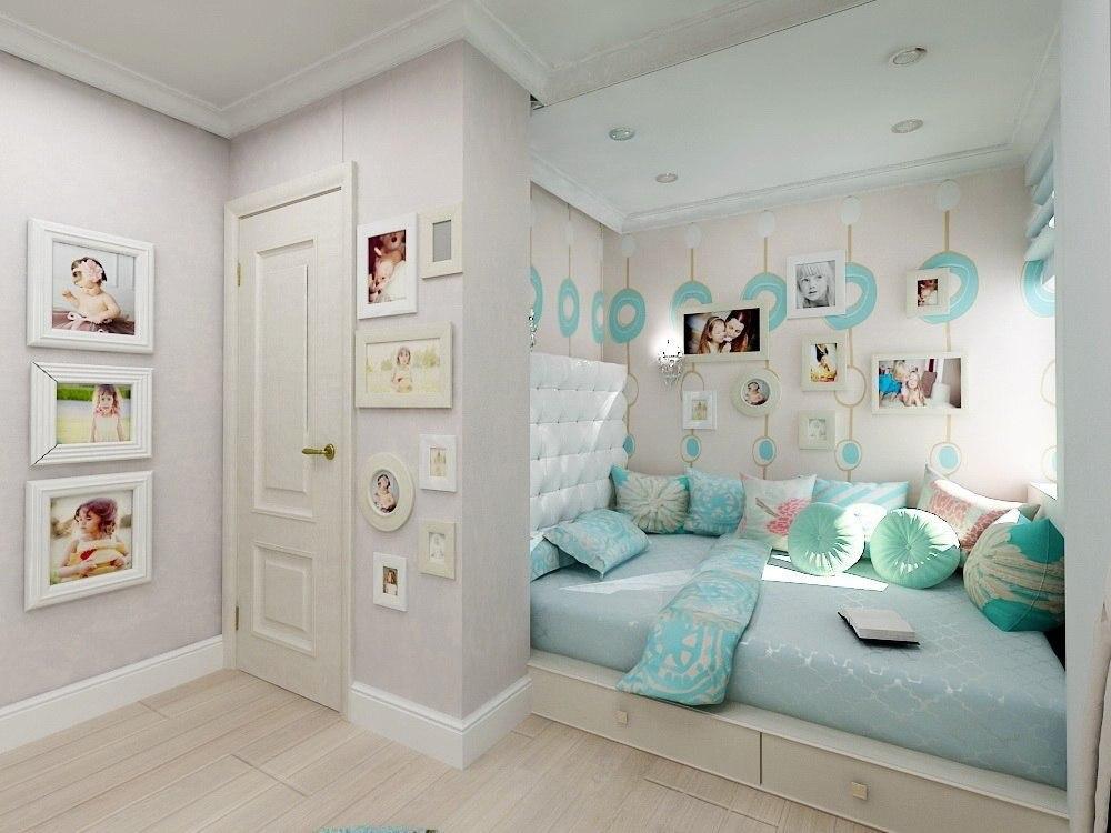 Дизайн светлой детской комнаты