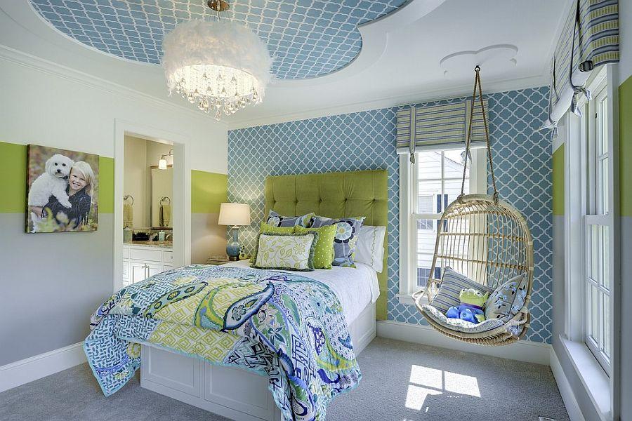 Детская комната в светло-синих тонах