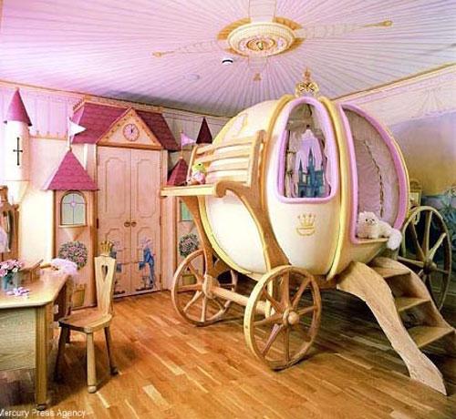Кровать-карета в детской комнате