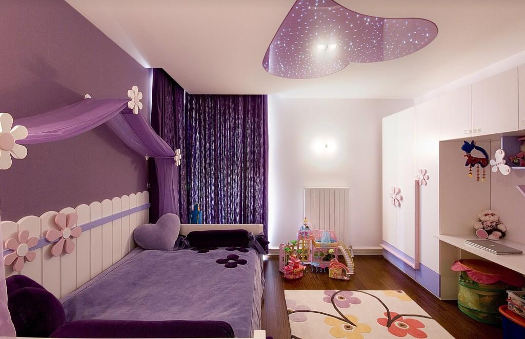 Вариант дизайна детской комнаты для девочки