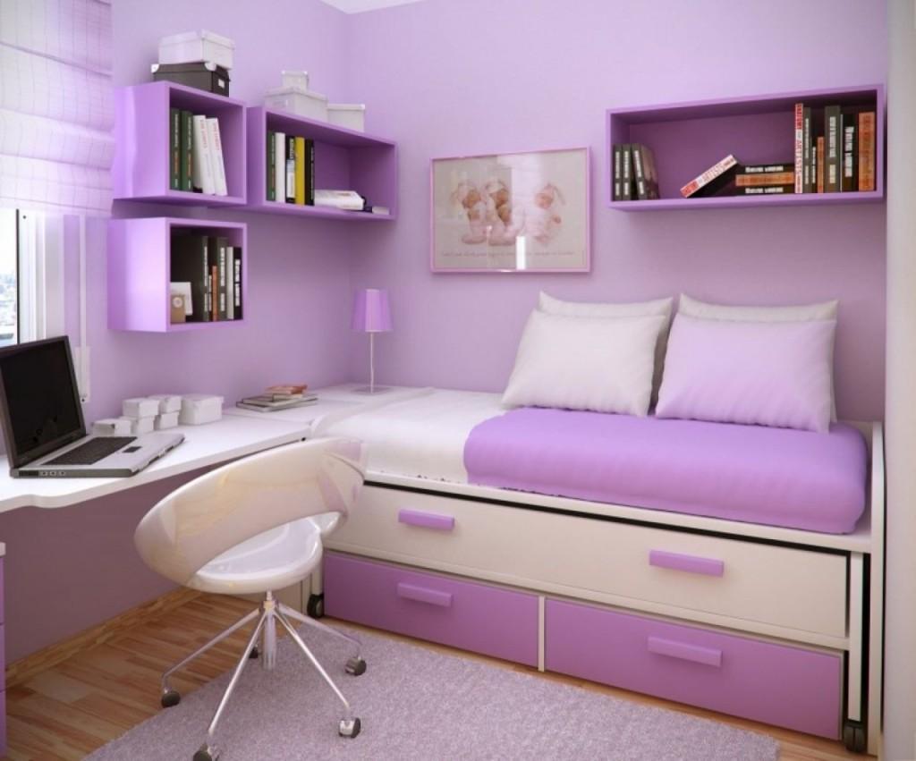 Детская комната для девочки в лавандовых тонах