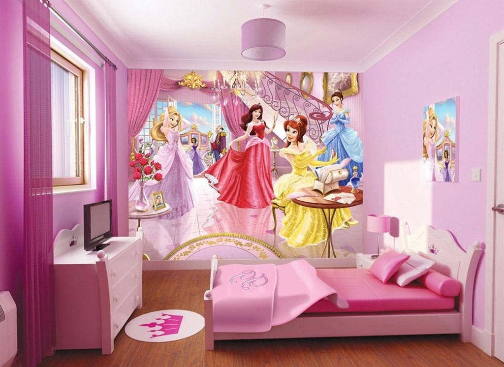 Вариант оформления детской комнаты для девочки в стиле Disney