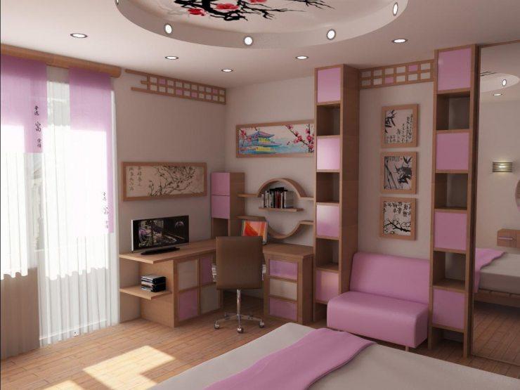 Вариант дизайна комнаты для девочки