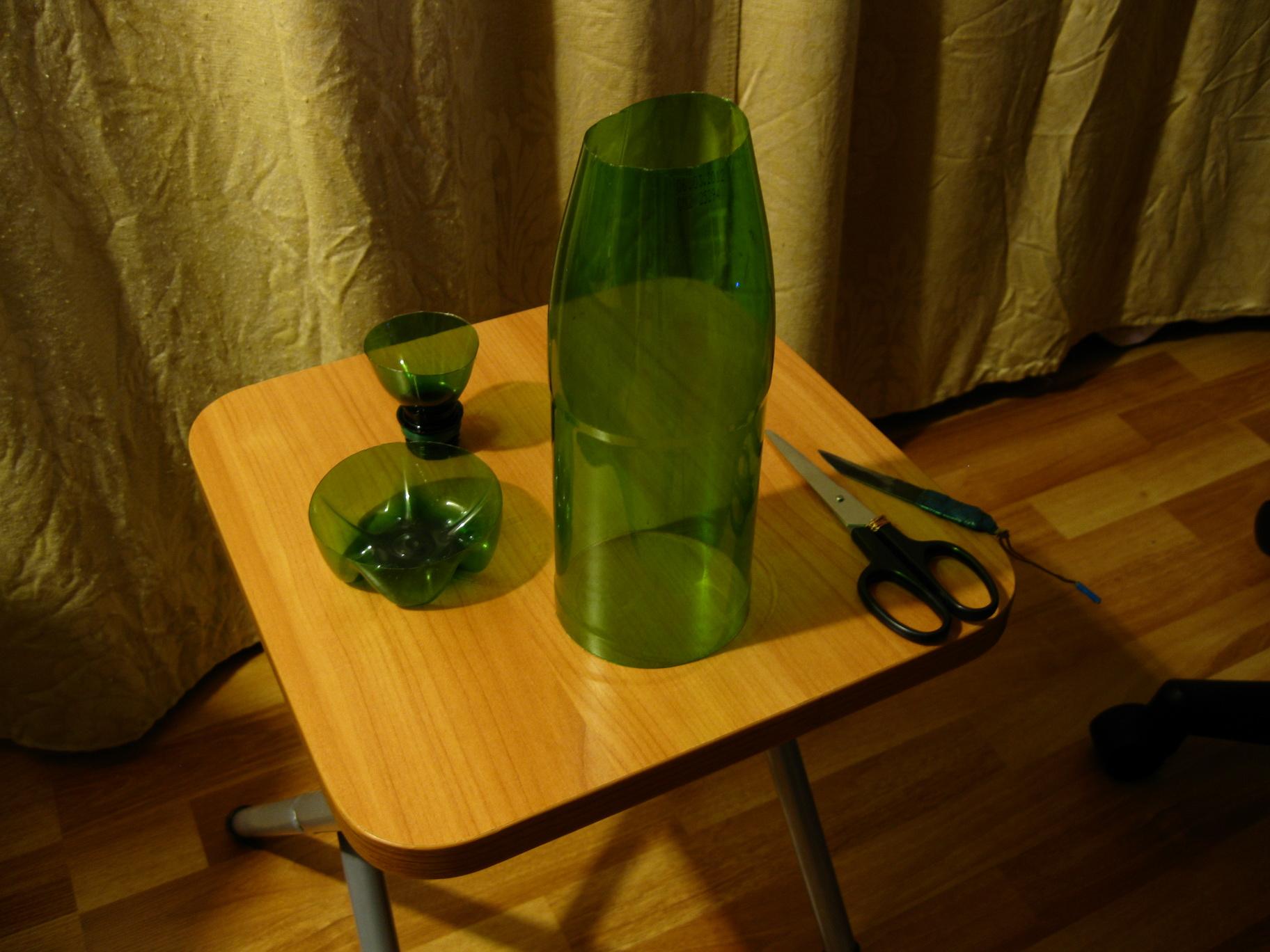Как сделать из пластиковых бутылок пальму пошаговая инструкция.