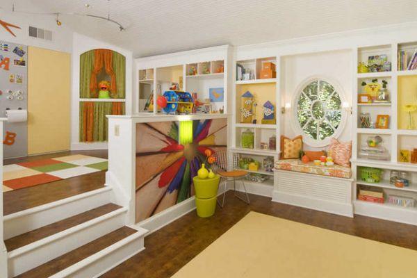 Пример зонирования пространства в детской комнате