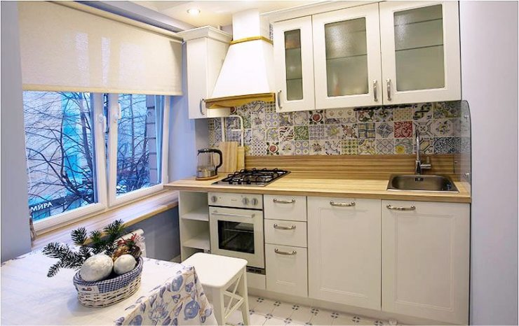Рулонные шторы для кухни 1