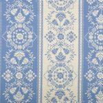 Бело-синие полосатые обои