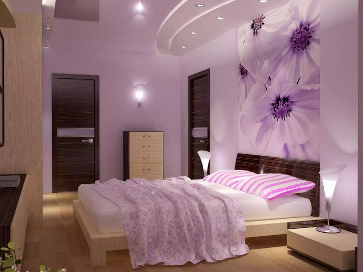 современный дизайн спальни 2017