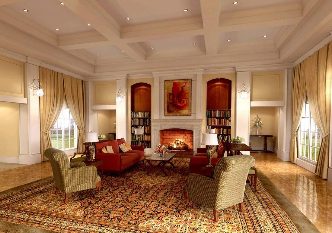 интерьер гостиной просто и со вкусом