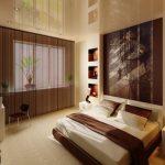 Интерьер спальни с точечным освещением