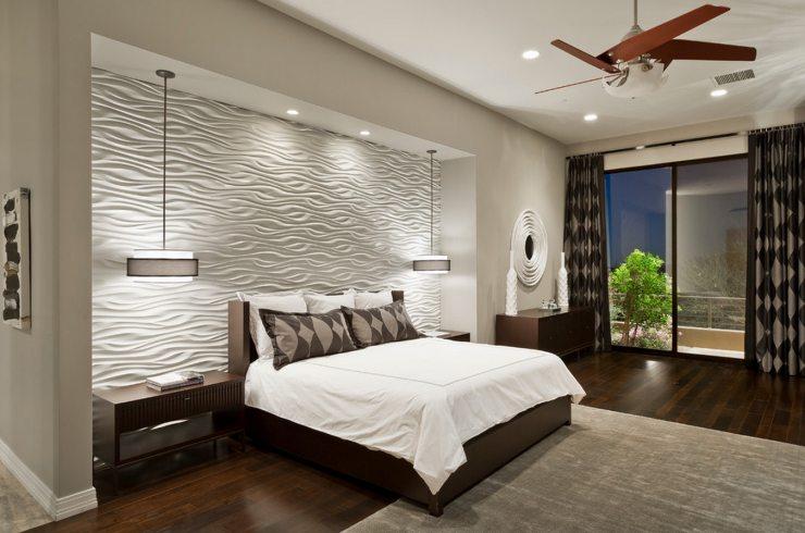Точечные светильники, встроенные в натяжной потолок
